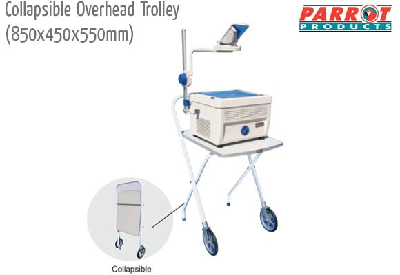 collapsible overhead trolley 850 450 550mm