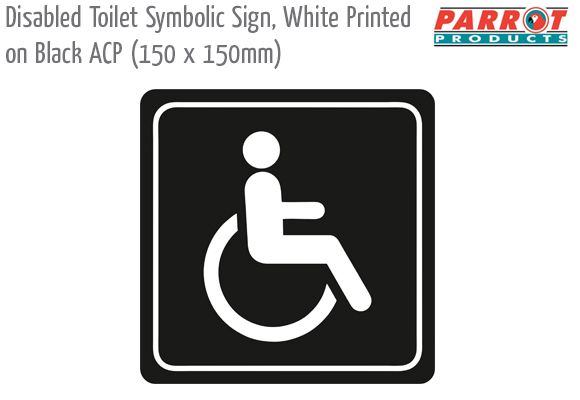 disabled toilet black