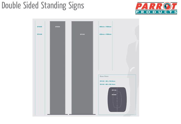 double sided standing signs