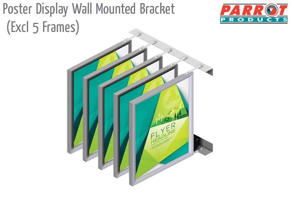 poster display wall mounted bracket