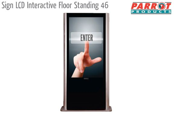 sign lcd interactive floors tanding 46