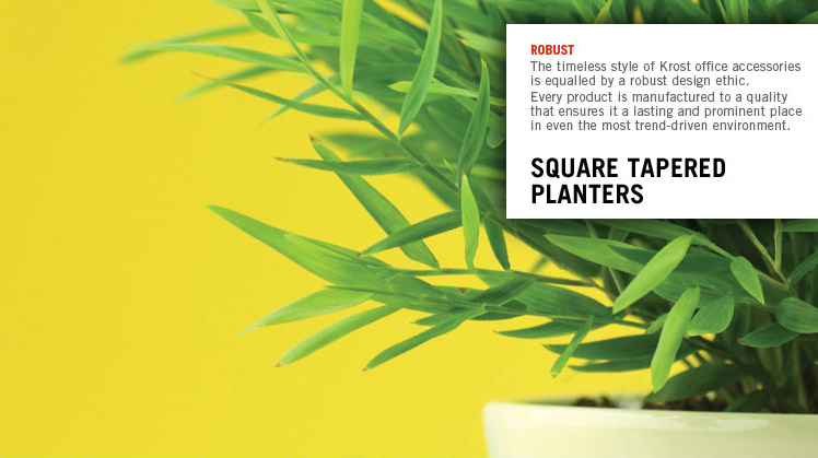 planters square tapered