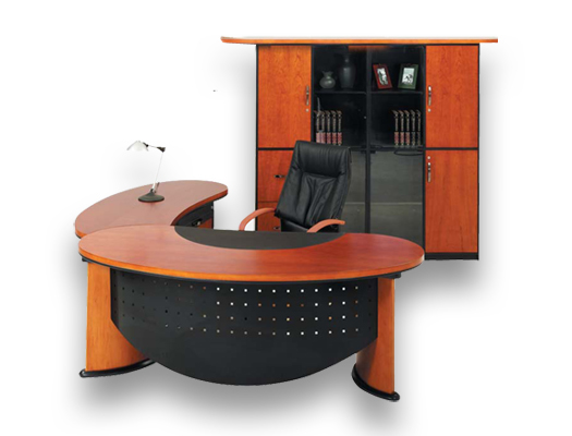 veneer desking bean wall unit
