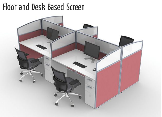 floor and desk based screens