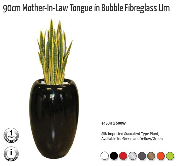 90cm mother in law tongue in bubble fibreglass urn